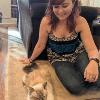 Rachel with cat profile